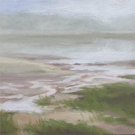 "Margaret Gerding | Morning Light-Day 3 | Oil on Panel | 8"" X 8"" 