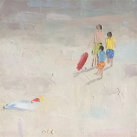 "Bethany Harper Williams | We Three Boys | Oil on Canvas | 20"" X 20"" 