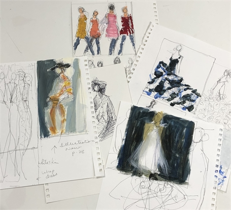 100 Years of Fashion Sketches