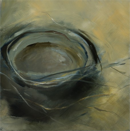 "Ingunn Milla Joergensen | Nest #2 | Oil on Canvas | 12"" X 12"" 