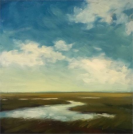 "Margaret Gerding | Morning Light-Day 27 | Oil on Panel | 8"" X 8"" 