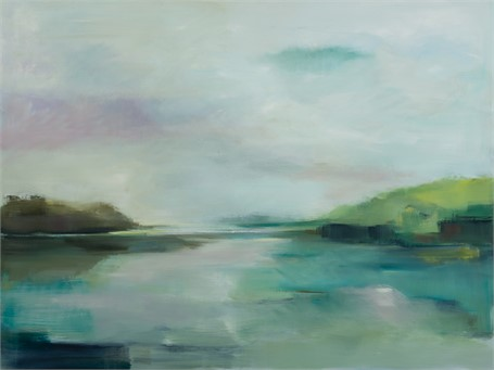 "Ingunn Milla Joergensen | A Wider Horizon-June at Wolfe's Neck | Oil on Canvas | 36"" X 48"" 