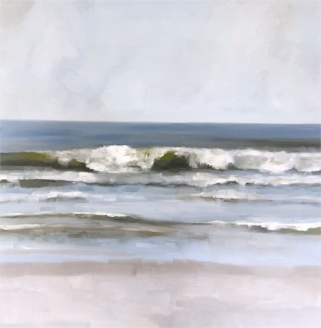 "Jill Matthews | Incoming Tide | Oil on Canvas | 48"" X 48"" 