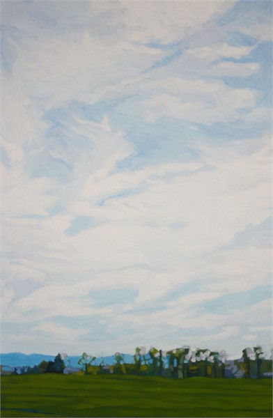 "Liz Hoag | Mountains in the Distance | acrylic | 36"" X 24"" 