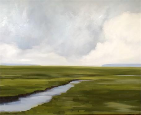 "Jill Matthews | Marsh Bend | Oil on Canvas | 48"" X 60"" | Sold"