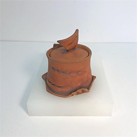 "Brendan Roddy | Small Lidded Container | Ceramic | 4.25"" X 4"" 