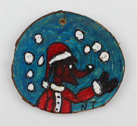 Santa Claus Dog/Tree (ornament)