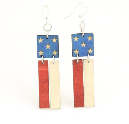 Earrings - American Flag 1473
