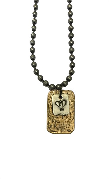 Necklace - Double Charm with Bee