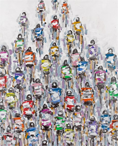 #245 Colorful Cyclists in the Peloton