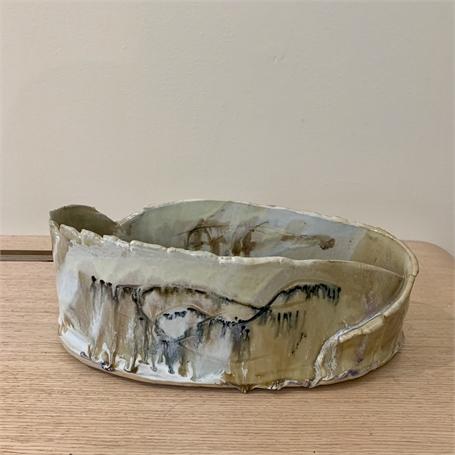 "Diane Carten Lynch | Sargent White Vessel V | Ceramic | 5"" X 12"" | Sold"