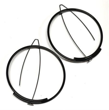 Powder Coated Earrings: Large Circle in Black