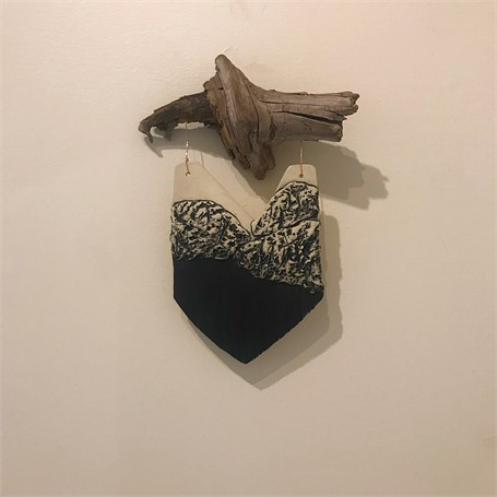 "Brendan Roddy | Medium Wall Piece | Ceramic, Avalanche Wood | 9"" X 12"" 