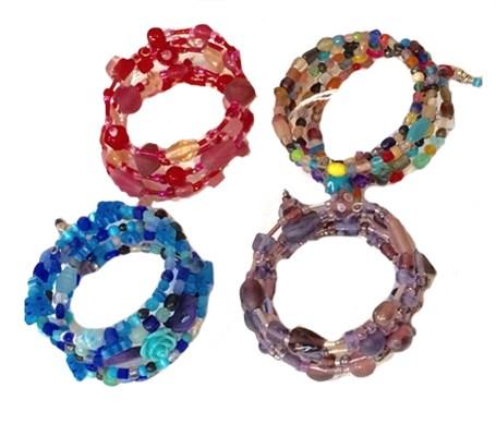 Bracelet - Beaded Memory Wire - Assorted