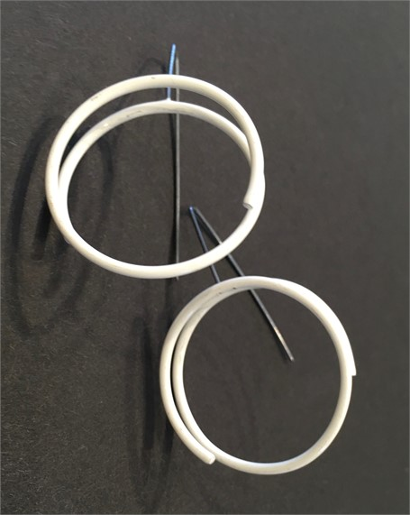 Earrings: Continuous Circle in White