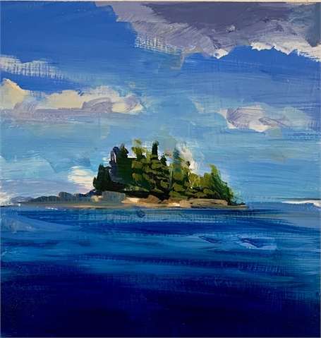 "Craig Mooney | Island | Oil on Panel | 12"" X 12"" 