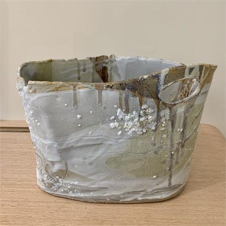 "Diane Carten Lynch | Sargent White Vessel I | Ceramic | 11"" X 14"" | Sold"