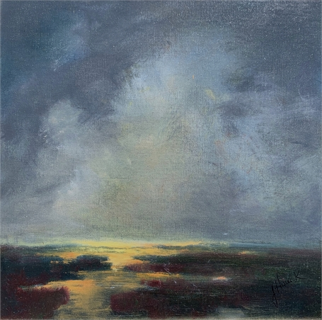 "Julie Houck | Whisper | Oil on Canvas Mounted on Panel | 10"" X 10"" 