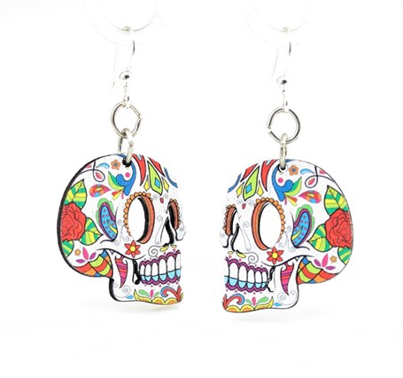 Earrings - Profile Sugar Skull 1529