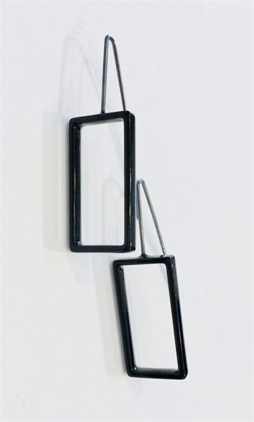 Earrings: Large Black Rectangle