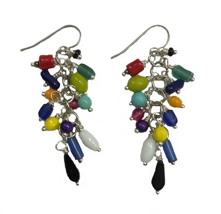 Earrings - Containing Swarovski, Czech, Glass, Ceramic With Titanium Wire  D 214