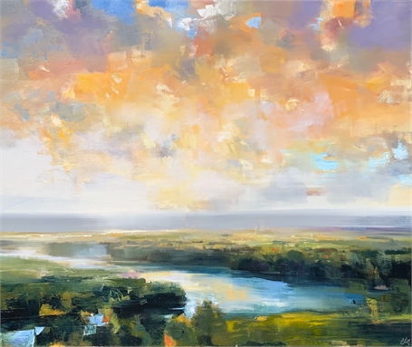 "Craig Mooney | Tranquil Inlet | Oil on Canvas | 60"" X 72"" 