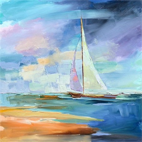 "Claire Bigbee | Adrift in Time | Oil on Canvas | 36"" X 36"" 