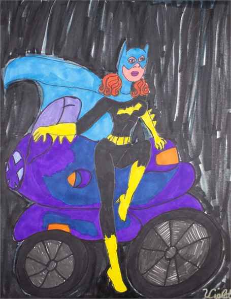 Batgirl on the Motorcycle