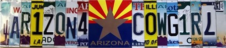 Lost License Plate - Arizona Cowgirl