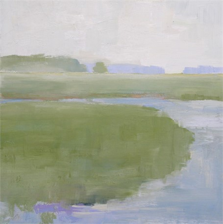 "Ellen Welch Granter | Fog Settles | Oil on Panel | 12"" X 12"" 
