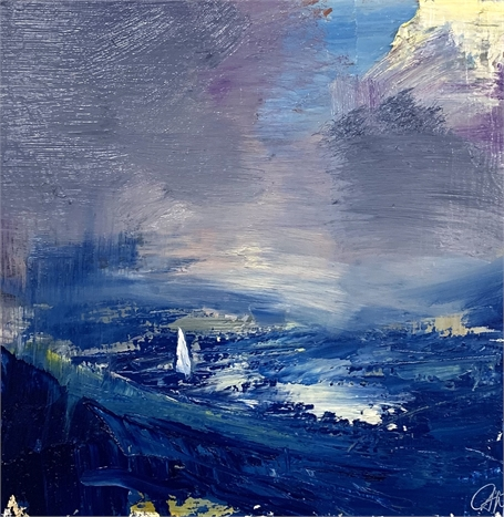 "Craig Mooney | Tempest | Oil on Panel | 12"" X 12"" 