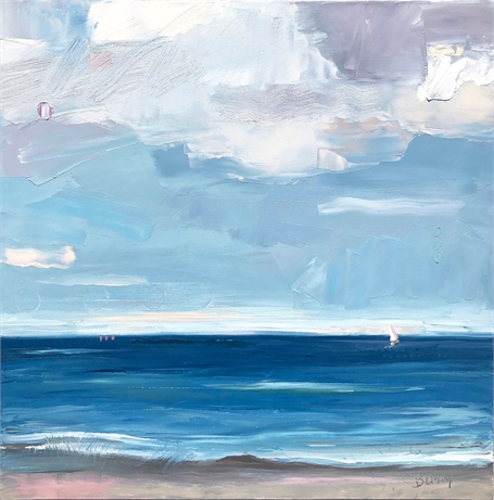 "Bethany Harper Williams | Cloudy Blue | Oil on Canvas | 30"" X 30"" 