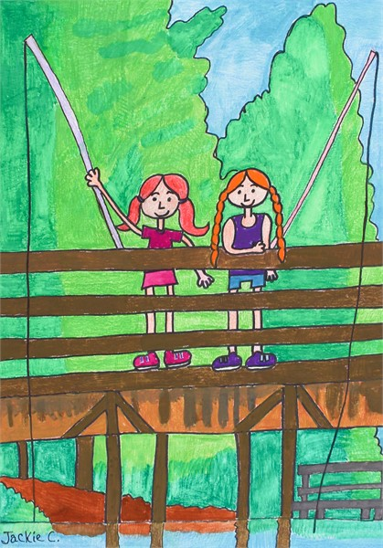 Girls Fishing
