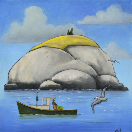"David Witbeck | Two Bush Island | Oil on Canvas | 24"" X 24"" 