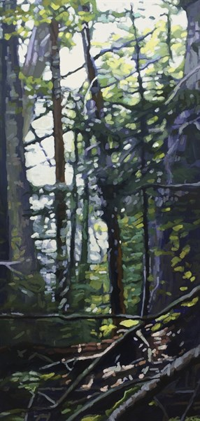 "Liz Hoag | Soggy Day | Acrylic | 48"" X 24"" 