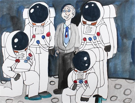Buzz Aldrin in Space Life
