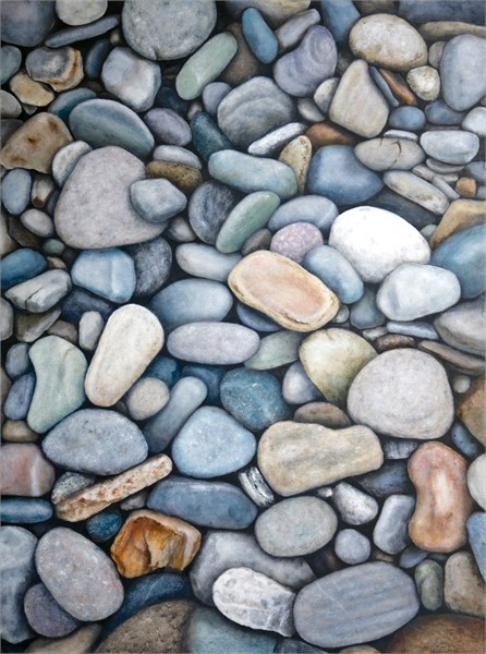 "Alex Dunwoodie | Stones at Biddeford Pool | Oil on Panel | 18"" X 24"" 