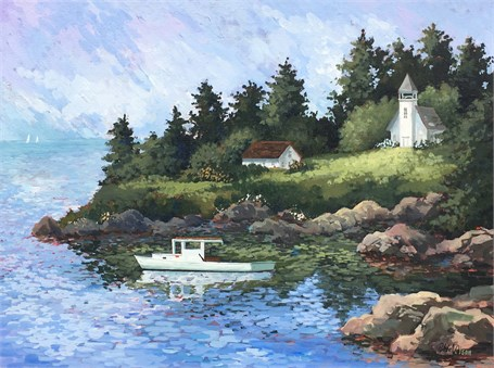 "Denise Patchell Olson | Swan Island | Oil | 18"" X 24"" 