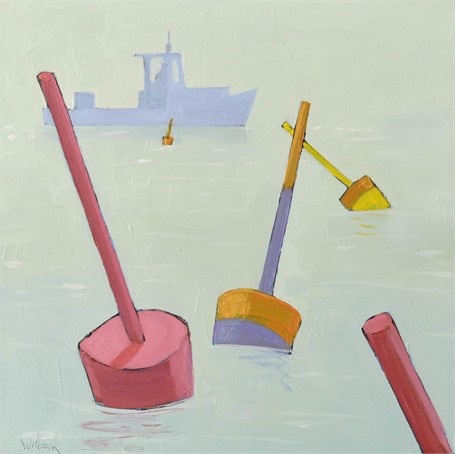 "David Witbeck | Buoys #3 | Oil on Panel | 12"" X 12"" 