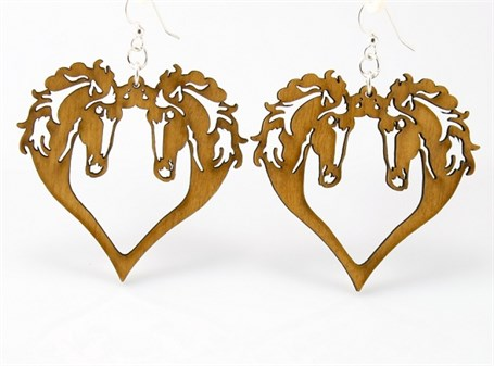 Earrings - Horse Heart  1059