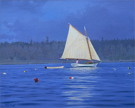 "William B. Hoyt | Friendship Sloop | Oil on Panel | 16"" X 20"" 
