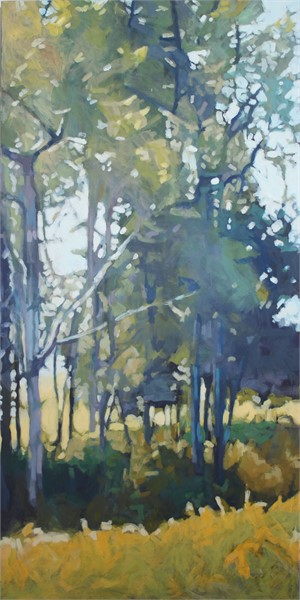 "Liz Hoag | Midday on the Farm  | Acrylic on Canvas | 48"" X 24"" 
