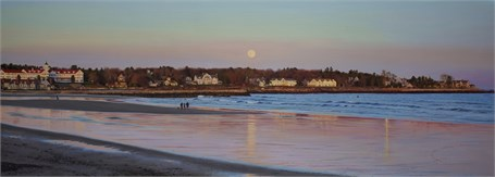 "William B. Hoyt | The Pink Moon | Oil | 18"" X 50"" 