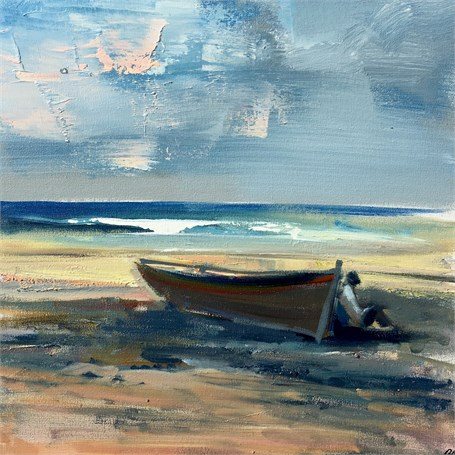 "Craig Mooney | Waiting on the Tide | Oil | 18"" X 18"" 