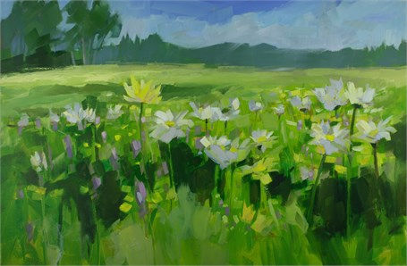 "Philip Frey | July Bliss | Oil on Canvas | 24"" X 36"" 