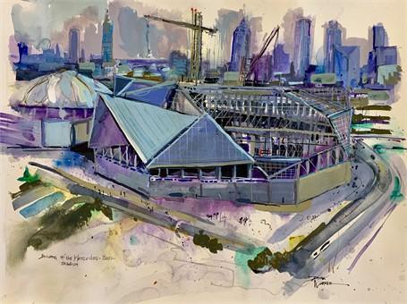 Building Mercedes Benz Stadium