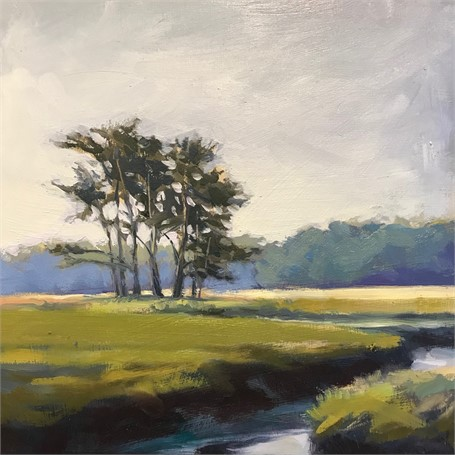 "Margaret Gerding | Morning Light-Day 14 | Oil on Panel | 8"" X 8"" 