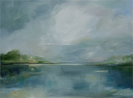 "Ingunn Milla Joergensen | Golden Hour (Blue Hour) | Oil on Canvas | 36"" X 48"" 