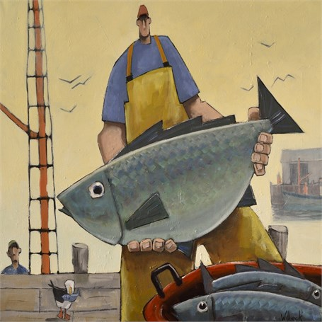 "David Witbeck | Lumper | Oil on Canvas | 30"" X 30"" 