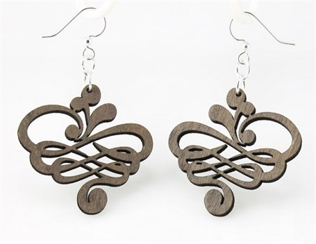 Earrings - Small Calligraphy Earrings 1129